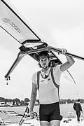 Poznan,  POLAND,  Saturday, 18/06/2016, NOR M1X Nils Jakob HOFF. FISA World Cup III, Malta Lake.[Mandatory Credit; Peter SPURRIER/Intersport-images]