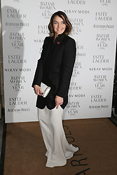 Victoria Pendleton arrives at Claridge's Hotel in London to attend the Harper's Bazaar Women of the Year Awards.