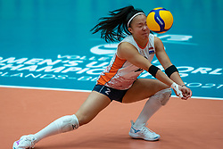 Romy Brokking of Netherlands in action during semi final Netherlands - Serbia, FIVB U20 Women's World Championship on July 17, 2021 in Rotterdam