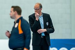 Coach Redbad Strikwerda of Dynamo in action during the semi cupfinal between Sliedrecht Sport vs. Draisma Dynamo on April 03, 2021 in sports hall De Basis, Sliedrecht