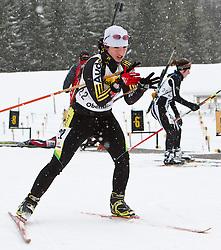 11.12.2010, Biathlonzentrum, Obertilliach, AUT, Biathlon Austriacup, Sprint Lady, im Bild Denise Seyfferth (GER, #22). EXPA Pictures © 2010, PhotoCredit: EXPA/ J. Groder
