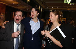 Left to right, the HON.PHILIP ASTOR, WILLIAM VAN CUTSEM and MIMA LOPES at an auction in aid of The Game Conservancy Trust held at Christie's, St.James's London on 12th December 2006.<br /><br />NON EXCLUSIVE - WORLD RIGHTS
