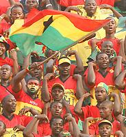 Photo: Steve Bond/Richard Lane Photography.<br />Ghana v Morocco. Africa Cup of Nations. 28/01/2008. Ghana fans fly the flag