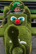 A grass covered Irish Plane -  the London St Patrick's Day parade from Piccadilly to Trafalgar Square.