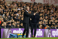 Steve McClaren, the Newcastle United gives  a thumbs up to his players from the touchline. Barclays Premier league match, Tottenham Hotspur v Newcastle Utd at White Hart Lane in London on Sunday 13th December 2015.<br /> pic by John Patrick Fletcher, Andrew Orchard sports photography.