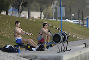 Seville. SPAIN, 16.02.2007. Crews'  training and boating at the Seville Training Centre, preparing for the weekend - FISA Team Cup [Photo Peter Spurrier/Intersprt Images]    [Mandatory Credit, Peter Spurier/ Intersport Images].   [Mandatory Credit, Peter Spurier/ Intersport Images]. , Rowing Course: Rio Guadalquiver Rowing Course, Seville, SPAIN,