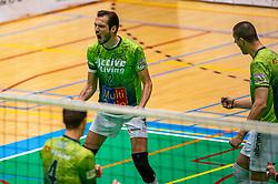 Bas van Bemmelen of Orion in action during the semi cupfinal between Active Living Orion vs. Amysoft Lycurgus on April 03, 2021 in Saza Topsportshall Doetinchem