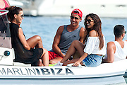 IBIZA, SPAIN, 2016, JULY 20 <br /> <br /> Cristiano Ronaldo still in Ibiza enjoyed friends in the boat and go Flyboard<br /> ©Exclusivepix Media