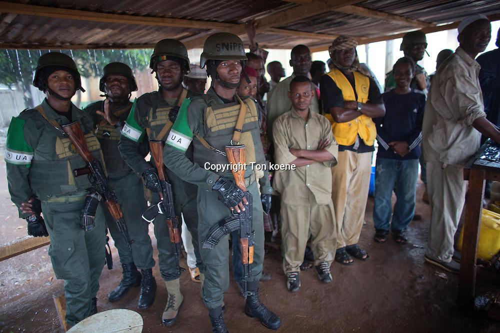 MISCA soldiers protecting muslim enclave PCAR