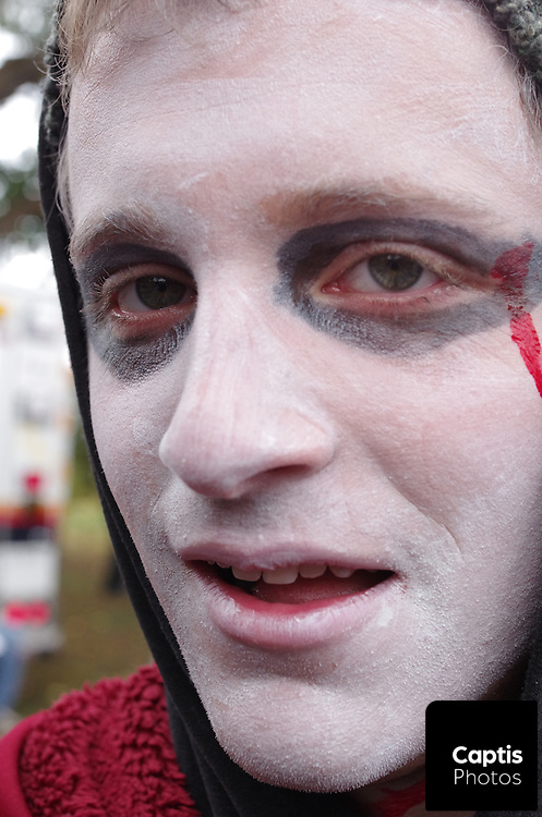 Hundreds of people dressed as zombies take place in Ottawa's annual zombie walk to Parliament Hill.