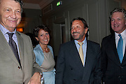 WILLIAM SHAWCROSS; OLGA POLIZZI; ROCCO FORTE; STUART JOHNSON, MANAGING DIRECTOR BROWN'S HOTEL. Diana Donovan, Olga Polizzi, Stuart Johnson host a cocktail reception to celebrate the publication of a Monograph of the Donovan Bar Photographs in the Donovan Bar at Brown's Hotel. Albermarle St. London. 8 September 2009.