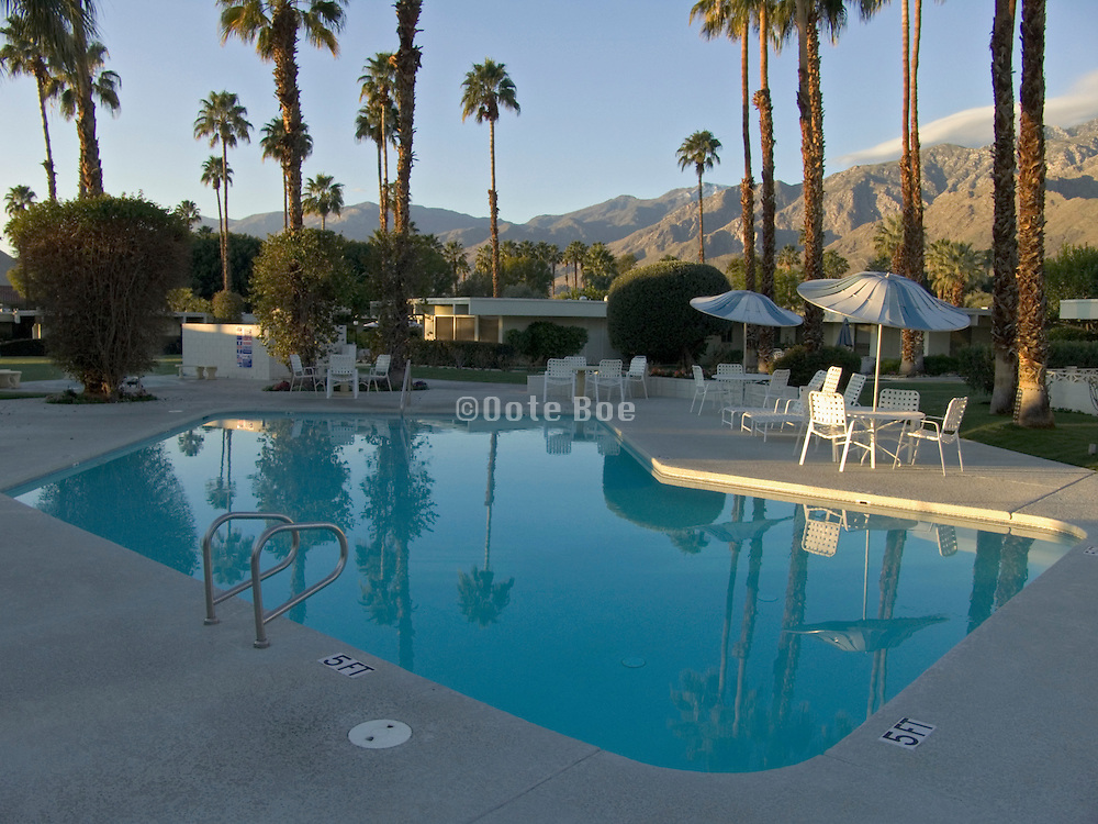 residential compound with swimming pool Palm Springs USA