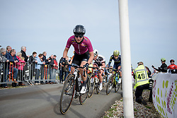Elisa Longo Borghini crests the Vamberg at Ronde van Drenthe 2017. A 152 km road race on March 11th 2017, starting and finishing in Hoogeveen, Netherlands. (Photo by Sean Robinson/Velofocus)