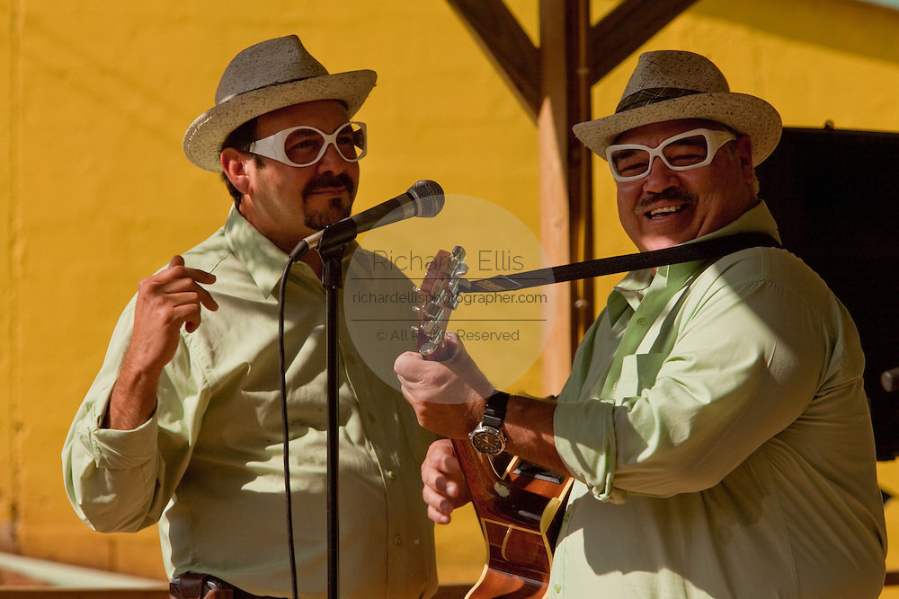 Comic singers perform at the Maricao Coffee Festival in the highlands of Puerto Rico.