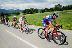 Niccolo Salvietti (ITA) of Sangemini-MG. K VIS, Gorazd Per (SLO) of KK Adria Mobil during Stage 3 of 24th Tour of Slovenia 2017 / Tour de Slovenie from Celje to Rogla (167,7 km) cycling race on June 16, 2017 in Slovenia. Photo by Vid Ponikvar / Sportida