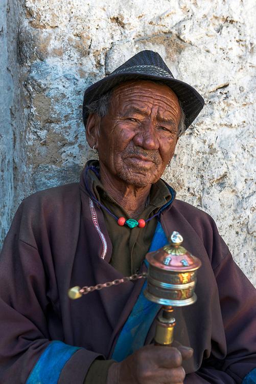 Portrait of a pilgrim, Leh, Ladakh