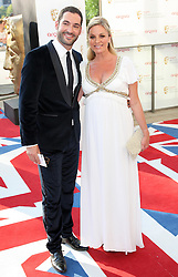 Tamsin Outhwaite and  husband Tom Ellis arriving at the British Academy Television Awards in London, Sunday , 27th May 2012.  Photo by: Stephen Lock / i-Images