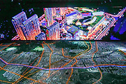 Rizhao Lanshen town planning urban development project at City's exhibition center, in Shandong province, China