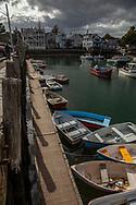The dinghy dock in Rockport's inner harbor