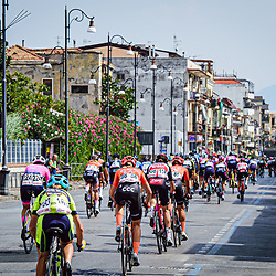Peloton – Ceratizit-WNT Pro Cycling ( WNT ) - GER – Querformat - quer - horizontal - Landscape - Event/Veranstaltung: Giro Rosa Iccrea - 6. Stage - Category/Kategorie: Cycling - Road Cycling - Cycling Tour - Elite Women - Location/Ort: Europe – Italy - Start: Torre del Greco - Finish: Nola - Discipline: Cycling - Road Cycling - Cycling Tour - Road Race ( RR ) - Distance: 97,5 km - Date/Datum: 16.09.2020 – Wednesday - Photographer: © Arne Mill - frontalvision.com