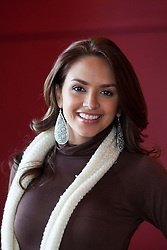 Miss Puerto Rica Amanda Vilnova..The Miss World participants visit Edinburgh Castle and will witness the firing of the One O'clock gun..MISS WORLD 2011 VISITS SCOTLAND..Pic © Michael Schofield.
