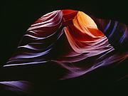 Beautiful chamber deep within a slickrock slot canyon, Colorado Plateau, Arizona.  PW
