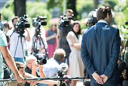 """26.06.2017, Volksgarten, Wien, AUT, ÖVP, Präsentation des neuen Sprechers der Bewegung """"Liste Sabastian Kurz - Die neue Volkspartei"""". im Bild Außenminister und designierter ÖVP-Chef Sebastian Kurz // Austrian Foreign Minister Sebastian Kurz during media conference of the austrian peoples party in Vienna, Austria on 2017/06/26. EXPA Pictures © 2017, PhotoCredit: EXPA/ Michael Gruber"""