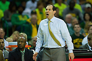 WACO, TX - MARCH 5: Baylor Bears head coach Scott Drew looks on against the West Virginia Mountaineers on March 5, 2016 at the Ferrell Center in Waco, Texas.  (Photo by Cooper Neill/Getty Images) *** Local Caption *** Scott Drew