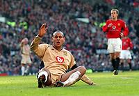 Fotball - Engelsk FA-Cup<br /> 04.01.2003<br /> Manchester United v Portsmouth<br /> Nigel Quashie - Portsmouth<br /> Foto: Matthew Impey, Digitalsport