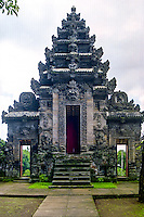 Bali, Bangli, Pura Kehen. The back of the entrance of Pura Kehen, an important temple from the 13th century.