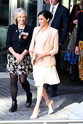Meghan, Duchess of Sussex make her first visit as patron of The National Theatre meeting staff and apprentices to learn about their work, London, UK. 30 Jan 2019 Pictured: Meghan, Duchess of Sussex. Photo credit: Fred Duval/MEGA TheMegaAgency.com +1 888 505 6342