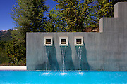 A detail of the pool in a home built by the General Contractor Rudd Construction, and designed by Poss Architecture + Planning and Interior Design, in Aspen, Colorado