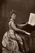 Madame Nordica (Lilian Norton) (1857-1914)  American soprano.  Studied the role of Violetta (La Traviata) under Verdi. From 1888 she appeared with Augustus Harris's Italian Opera Company.   From 'The Cabinet Portrait Gallery' (London, 1890-1894).  Woodburytype after photograph by W & D Downey.