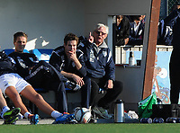 Fotball NM Cup 1.runde Orkla-Rosenborg<br /> 24 april 2014<br /> <br /> Orkdalsbanken Stadion, Fannrem<br /> <br /> <br /> Orklas trener Nils Arne Eggen hever finger'n...<br /> <br /> Foto : Arve Johnsen, Digitalsport