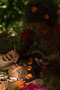 Women demonstrate facial tattooing Mclaren Harbour, Tufi, Cape Nelson, Oro Province, Papua New Guinea