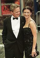 Co-star of the film Entrapment, Catherine Zeta-Jones arriving at the UK Premieré of the film at the Odeon in Edinburgh with husband Michael Douglas. The American film was directed by Jon Amiel, and starred Sean Connery and Catherine Zeta-Jones. The original music score was composed by Christopher Young.