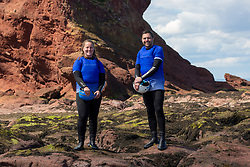 18MAY21 Matt out with Mollie Hughes, Coasteering with Ocean Vertical at Dunbar.