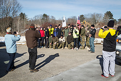 Southern Maine SRT pose with Gary Allen in York during his run of 500 miles from Maine to the Super Bowl raising money for Wounded Warriors Project