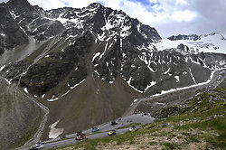June 16, 2017 - Solden, Suisse - SOLDEN, AUSTRIA - JUNE 16 : Illustration picture of the peloton Landscape Bunch Postcard Post card Paysage Carte Postale landschap briefkaart  during stage 7 of the Tour de Suisse cycling race, a stage of 160 kms between Zernez and Solden on June 16, 2017 in Solden, Austria, 16/06/2017 (Credit Image: © Panoramic via ZUMA Press)