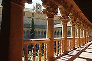 SPAIN, CASTILE, SALAMANCA Convent of Las Duenas, cloister