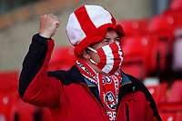 Football - 2020 / 2021 Sky Bet Championship - Play-offs - Semi-final 1st Leg - Barnsley vs Swansea City - Oakwell<br /> <br /> Barnsley fans at Oakwell stadium. A limited number of fans will be allowed into the stadium as Coronavirus restrictions begin to ease in the UK following the COVID-19 pandemic