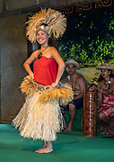Music & dance of Tahiti. The Polynesian Cultural Center (PCC) is a major theme park and living museum, in Laie on the northeast coast (Windward Side) of the island of Oahu, Hawaii, USA. The PCC first opened in 1963 as a way for students at the adjacent Church College of Hawaii (now Brigham Young University Hawaii) to earn money for their education and as a means to preserve and portray the cultures of the people of Polynesia. Performers demonstrate Polynesian arts and crafts within simulated tropical villages, covering Hawaii, Aotearoa (New Zealand), Fiji, Samoa, Tahiti, Tonga and the Marquesas Islands. The Rapa Nui (Easter Island) exhibit features seven hand-carved moai (stone statues). The PCC is run by the Church of Jesus Christ of Latter-day Saints (LDS Church). For this photo's licensing options, please inquire.