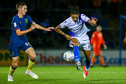 Daniel Leadbitter of Bristol Rovers is marked by Conor Coventry of West Ham United U21s - Mandatory by-line: Ryan Hiscott/JMP - 18/09/2018 - FOOTBALL - Memorial Stadium - Bristol, England - Bristol Rovers v West Ham United U21 - Checkatrade Trophy