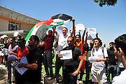 Israel, Haifa University a Pro Palestinian demonstration