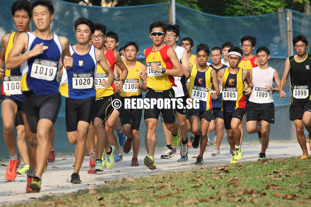 Bedok Reservoir Park, Wednesday, March 27, 2013 – Karthic Harish Ragupathy of Hwa Chong Institution (HCI) clinched first place in the A Division individual category at the 54th National Schools Cross Country Championships. Karthic also won the individual title in 2012, albeit in a slower time of 13:09.14.<br /> <br /> Story: http://www.redsports.sg/2013/03/28/a-div-cross-country-karthic-hwa-chong/