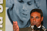 28 August 2006: Tony DiCicco presents Carla Overbeck (not pictured) for induction into the Hall of Fame. The National Soccer Hall of Fame Induction Ceremony was held at the National Soccer Hall of Fame in Oneonta, New York.