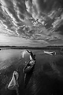 Fine art black and white. TuyHoa city-Vietnam