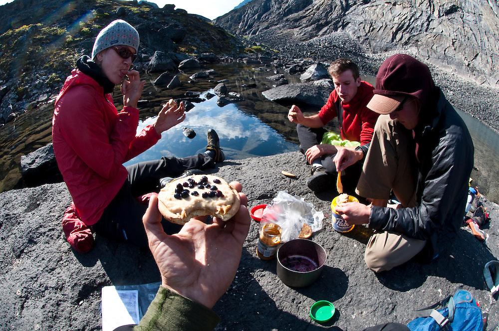 Cortney Kitchen, Tobey Carman, Kate Rutherford,  Arrigetch Peaks, Brooks Range, AK