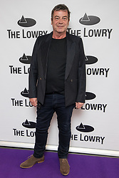 © Licensed to London News Pictures . 30/08/2017 . Salford , UK . Richard Hawley . Purple carpet photos of celebrities, actors and invited guests arriving for the press night of the musical comedy , Addams Family , at the Lowry Theatre . Photo credit : Joel Goodman/LNP
