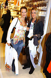 Left to right, ARABELLA MUSGRAVE and VIOLET VON WESTENHOLTZ at a party to celebrate the opening of the new H&M Flagship Store at 17-21 Brompton Road, London SW3 on 23rd March 2005.<br />
